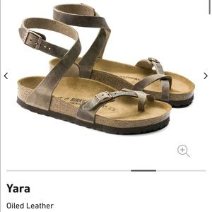 BIRKENSTOCK Yara Oiled Leather Tobacco